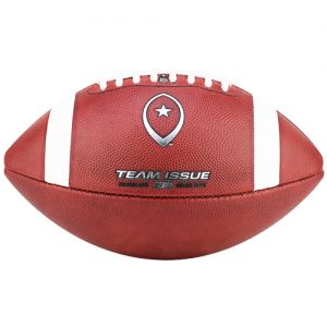 Team Issue Official High School Football | Pro Style | Chrome Metallic w/Red Leather