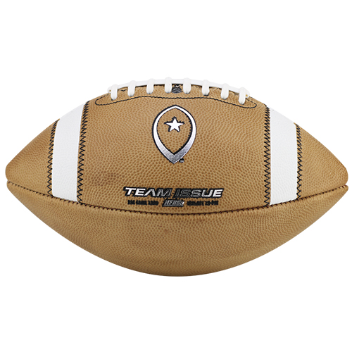 Team Issue Official High School Football | Dual Threat | Chrome Metallic w/Natural Leather