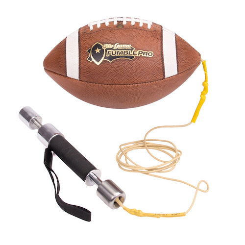 FumblePro Punch Handle – Leather Football